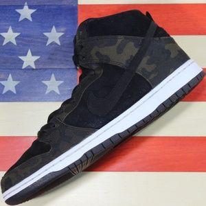 Nike Dunk SB Hi Camo Green Iguana Black 305050-205